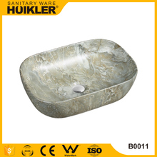Good price top quality corner sink basins bathroom basin top sink material of stone