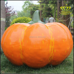 Custom glass steel sculpture Halloween Pumpkin fruits and vegetables resin painted sculpture