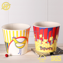 Custom logo printed popcorn buckets_paper food buckets/Cups for popcorn