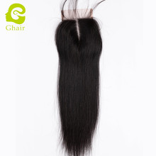 Natural Straight Cheap Malaysian Middle Part Sample Unprocessed Lace Closure with Baby Hair
