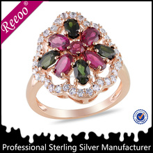 New Model Silver Ring Fancy Gold plating 925 Silver Ring Design Jewelry
