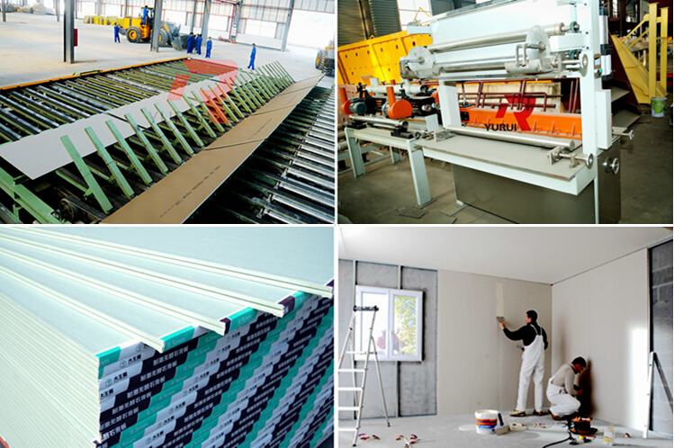 paper faced gypsum board production equipment/popular used gypsum board production line