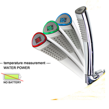 LED Hand Held Shower Heads With Temperature Display Design To Lifetime For Kid and Aged Pet shower