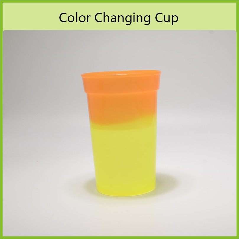 OEM Temperature Sensitive Plastic Color Changing Cup