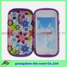 Water print PC+silicon mobile phone cover for samsung S3 mini I8190