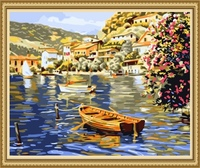 40*50cm handpainted oil painting sailing boat, canvas painting