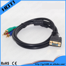 Factory price vga to rgbhv cable female vga to rca cable