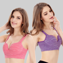 TM10 3D sports bra without rims gather yoga sleep shock running women's underwear no trace underwear vest