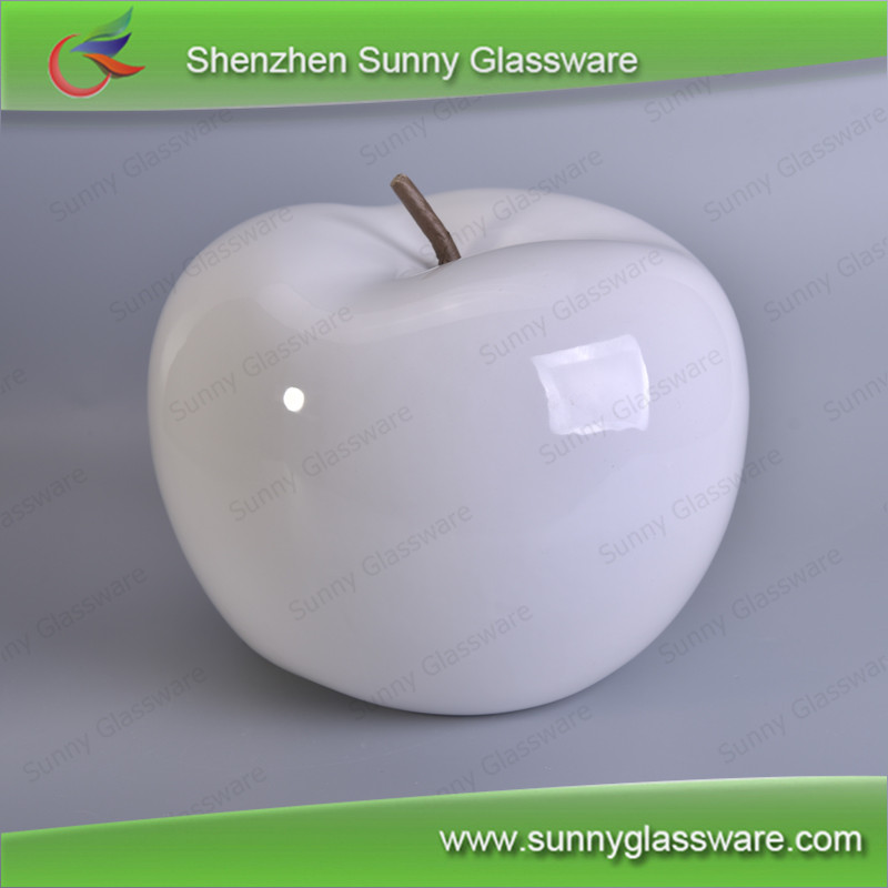 Hadn made decoration accessories white apple for homely