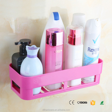Pink plastic cheap bathroom storage rack bathroom organizer kitchen rack