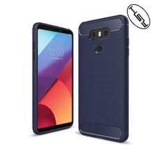 HUYSHE Mobile Phone Case for LG G6 Plus Waterproof Carbon Fiber Case