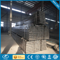 galvanized steel pipe for home furniture folding bed structure perforated square steel tube