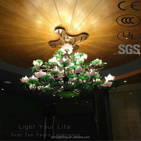 2016 Chinese Style ODM Lotus Design Large Project Hotel Ceiling Lamp