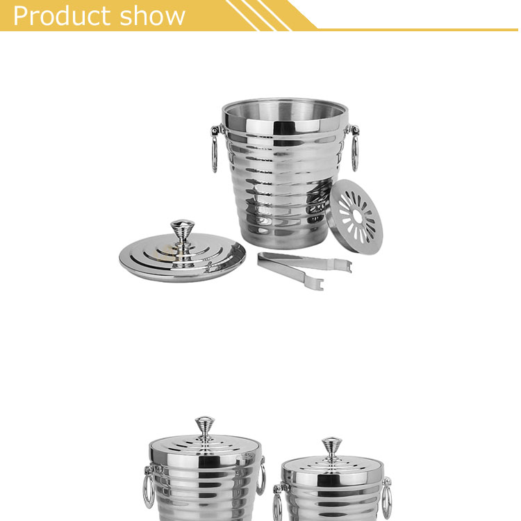 Export Hot sell bar tableware accessories stainless steel champagne ice bucket
