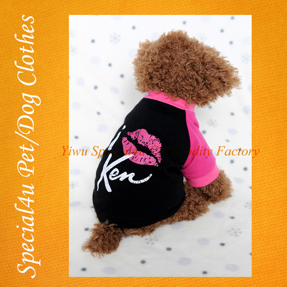 SHLY-1039 Cute Pet Dog Puppy T-Shirt Pet Clothes Dog Jumpsuits, Pet Apparel Coats