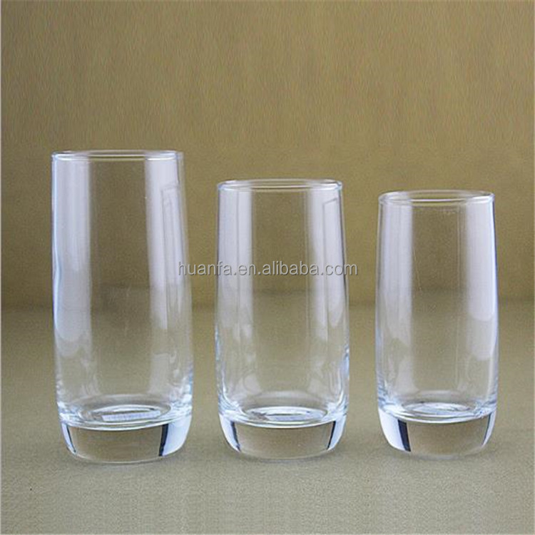 Cheap Good High-Quality Machine Blowing Glass Glassware Cup Glass Tumbler With round bottom various Capacity.