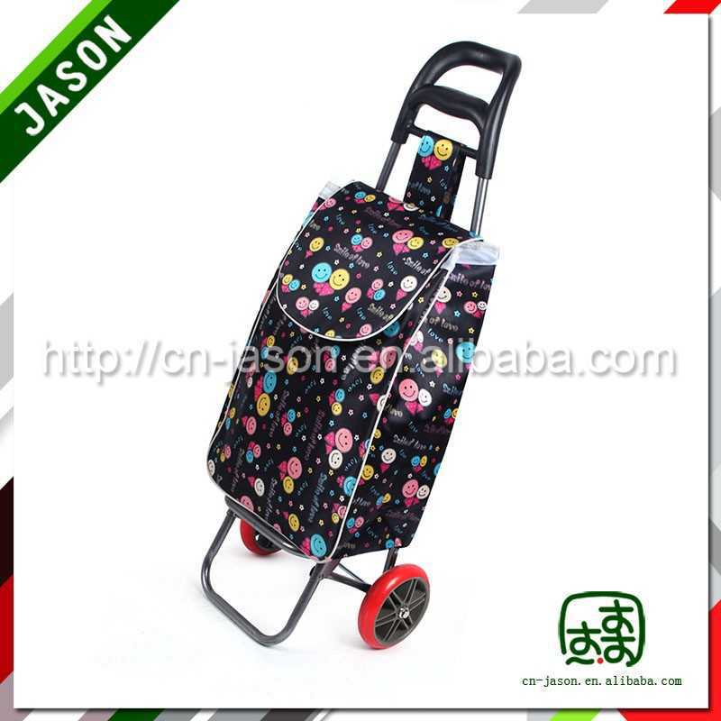 folding shopping trolley used luggage cart handle