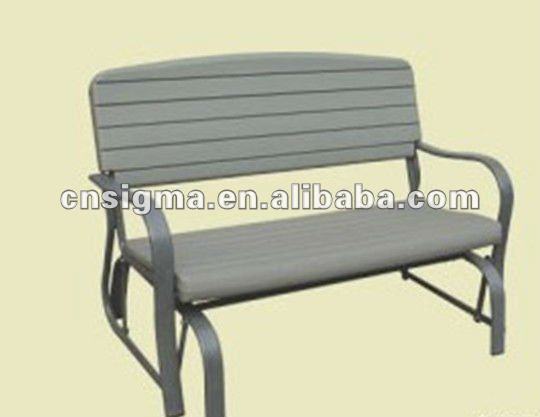 2014 Hot sale HDPE white molded plastic folding bench