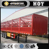 China 3 axles Dongfeng fence trailer/stake semi trailer/cargo truck trailer for sale