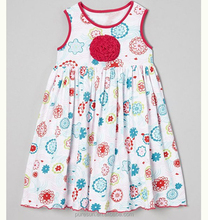 summer sleeveless flowers baby girls casual dress design