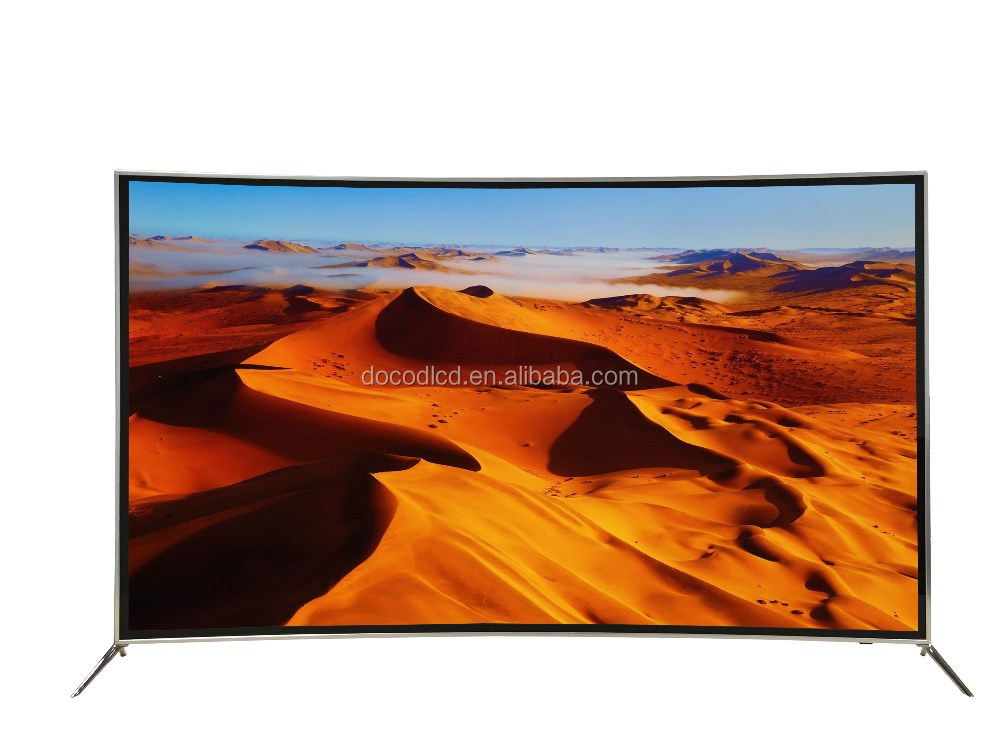UHD LED Display Screen 70 65 55 Inch 4K Television Curved TV