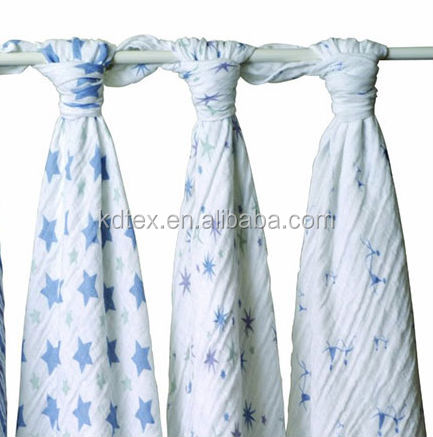 "100% Bamboo Rayon Muslin Swaddle Blanket Wrap Diaper Anti-bacteria Cool Soft Baby Summer Essential 47x47"" After Washed"
