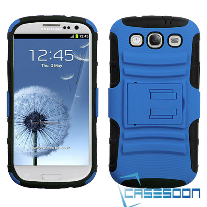 ADVANCED ARMOR PROTECTOR CASE COVER STAND SAMSUNG GALAXY S3 SIII I9300