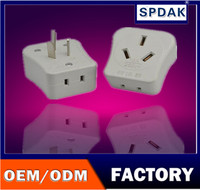 Factory selling travel switch plug Socket to plug