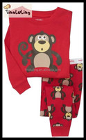 2015 lovers pajamas set monkey baby kids pajamas sleepwear