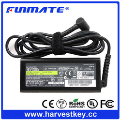 Quality OEM 75W laptop adapter for sony 16v 4a adapter with carved logo 6.5*4.4mm connector