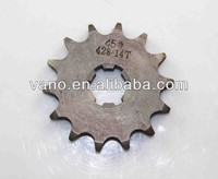 45# Steel AX100 428-14T motorcycle roller chain sprockets