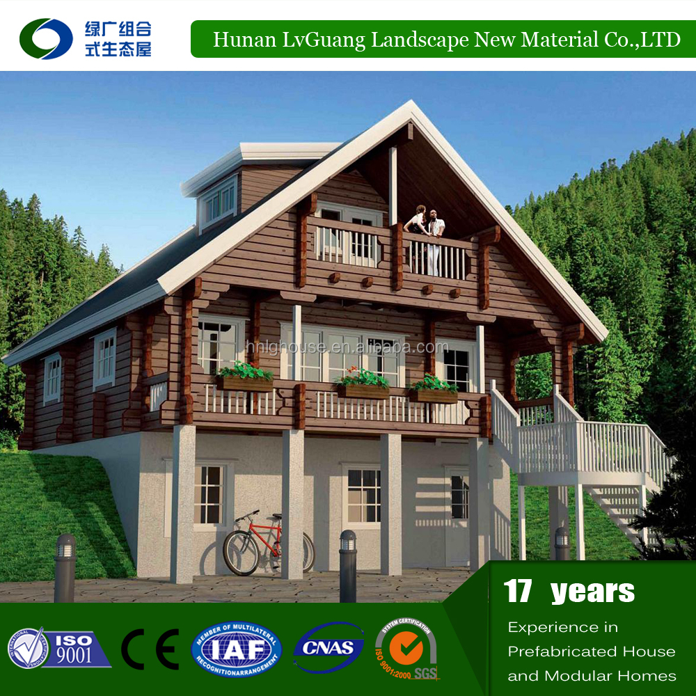 Good looking and living comfortable wood pfefabricated villa for sale
