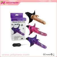 With vibrating function,Superior quality strap on vibrating dildo