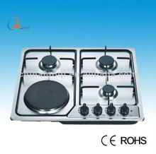 3 gas burners + 1 electrical hotplateg as electric combination cookers