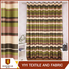 Made in china Low price Luxury blackout colorful stripes design curtain ready made