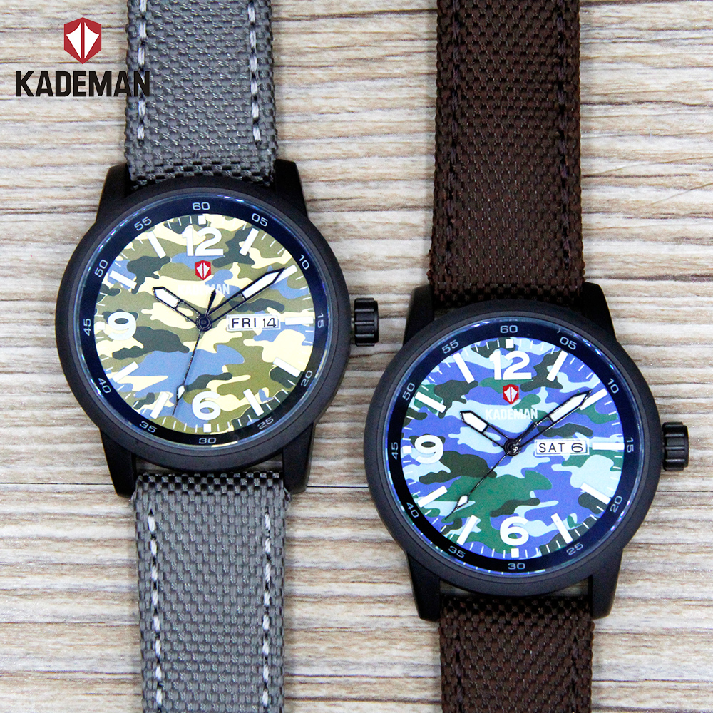 KADEMAN Army Style Mens Wrist Watch Waterproof Quartz Men's Military Watch RJ403N20