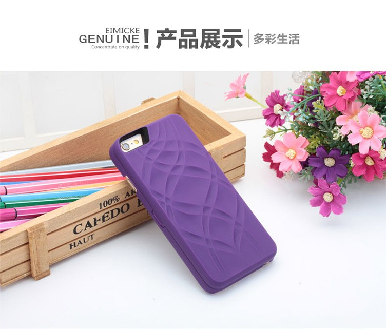 new arrival cosmetic mirror wallet pc case for iphone 6 plus makeup case