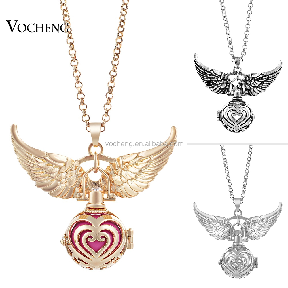 10pcs/lot Heart Pendant Necklace Angel Wing Accessories Mexican angel Ball Hollow Jewelry (VA-101) Free Shipping