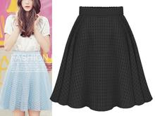 Factory new fashion ladies skirts summer girl plaid organza woman fancy skirt
