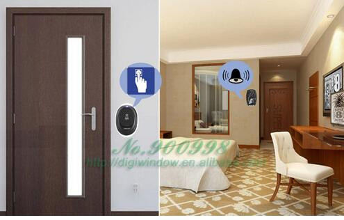 Eu Plug Led 100m Wireless Doorbell Door Bell 36 Cord Music Tunes Melody Home
