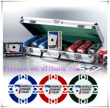 2014 newest custom poker chip case,aluminum case poker set for casino factory in China Guangdong