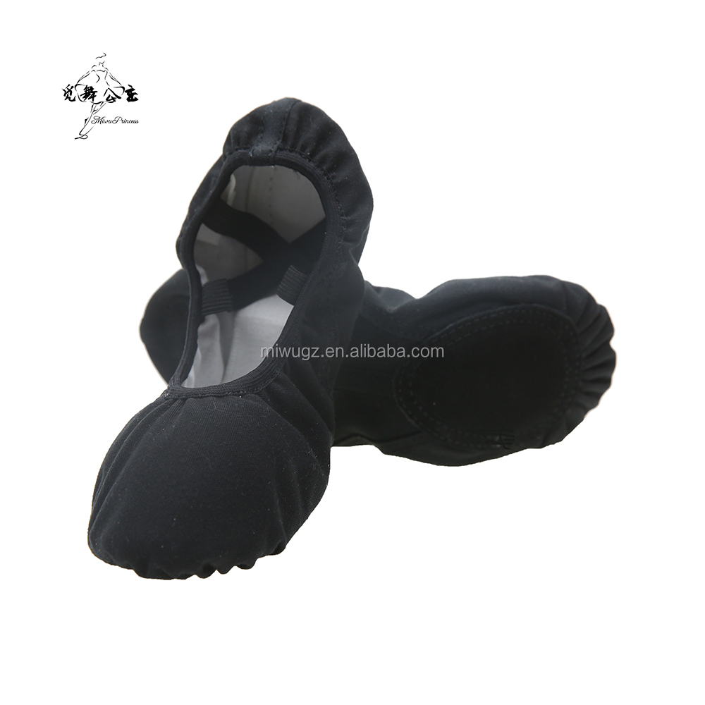 Women Black Foldable Elasticates Soft Canvas Ballet Shoes