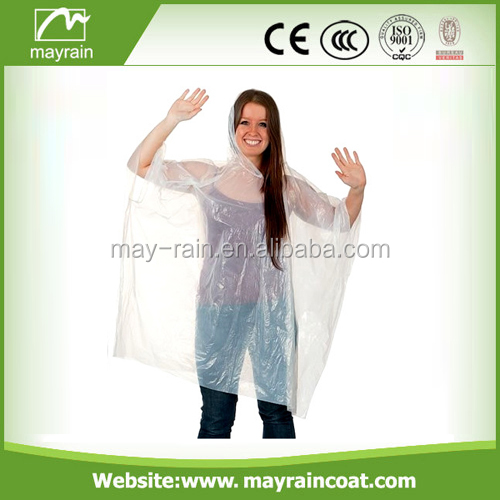 ECO PE Foldable Raincoat Poncho