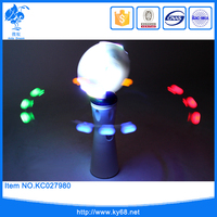 Wholesale kid electric spinning light spinner flash easter magic stick toy