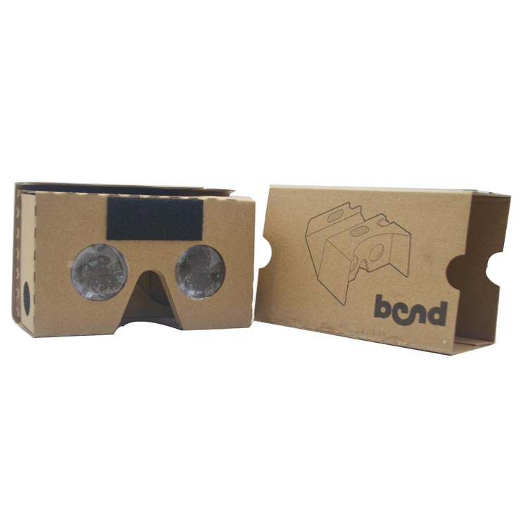 colorful virtual reality headset vr cardboard vr brand cardboard works with iPhones and Android devices