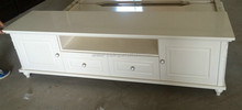 Home Furniture Living Room Ivory White TV Stands