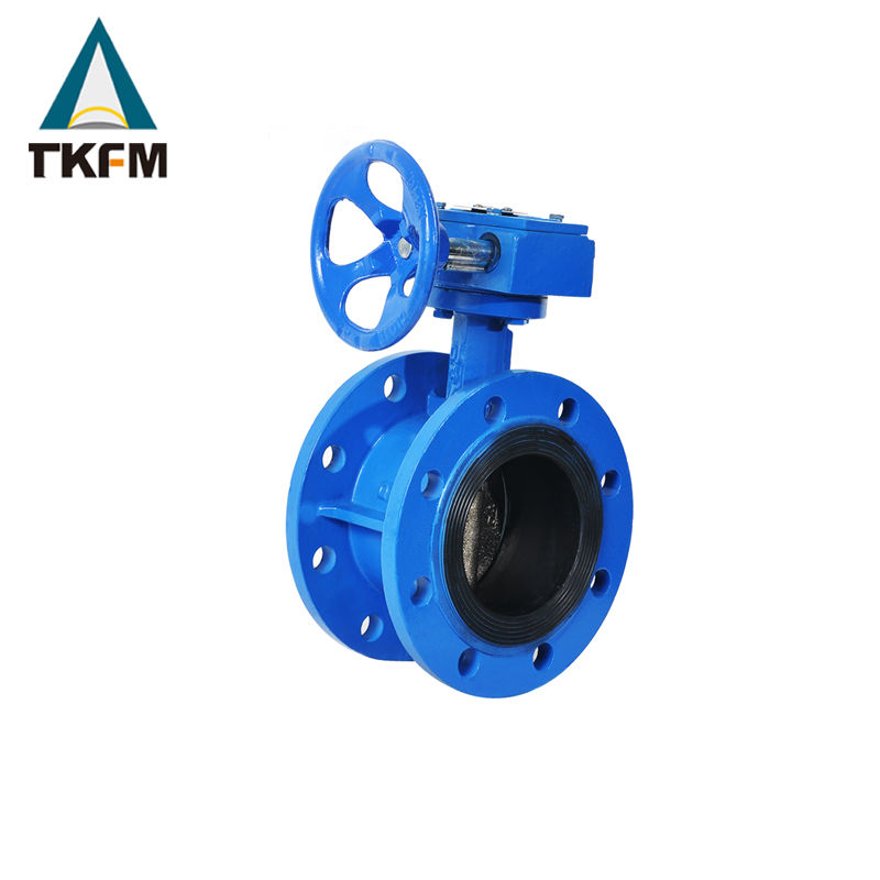 Sale large triple-eccentricity metal to metal gear operator 12 butterfly valve