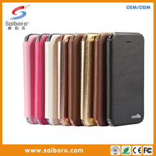 2016 Hot sale OEM newest fashion colorful PU leather cell phone case for iphone 6 6S