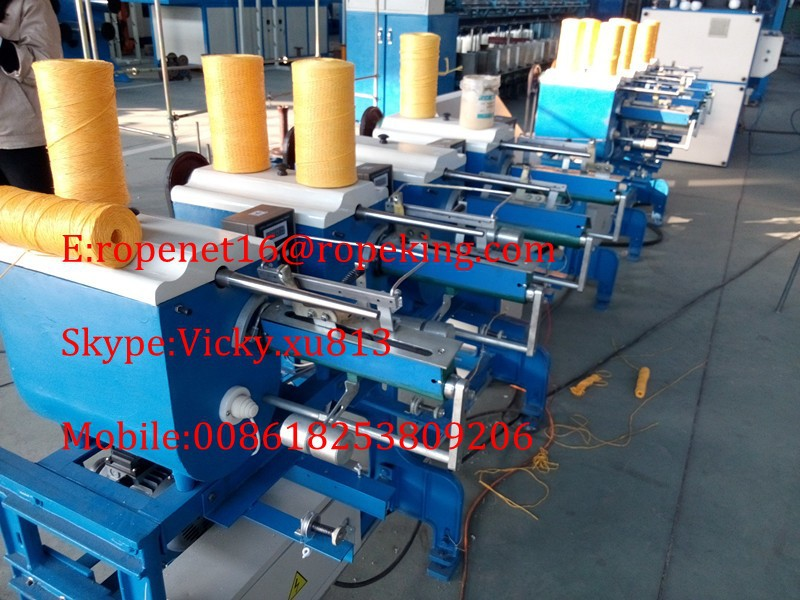 six spindle winding machine for pp twine making machine Email:ropenet16@ropeking.com/skype:Vicky.xu813