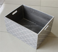 Eco-friend custom warm color wooden storage box for fruit vegetable
